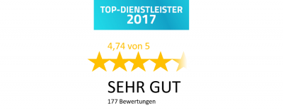 Top Dienstleister 2017 ProvenExpert