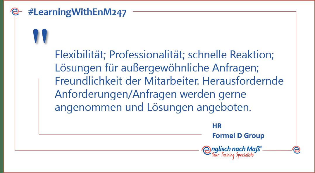 Flexibilität; Professionalität; schnelle Reaktion; Lösungen für außergewöhnliche Anfragen; Freundlichkeit der Mitarbeiter. Herausfordernde Anforderungen/Anfragen werden gerne angenommen und Lösungen angeboten.