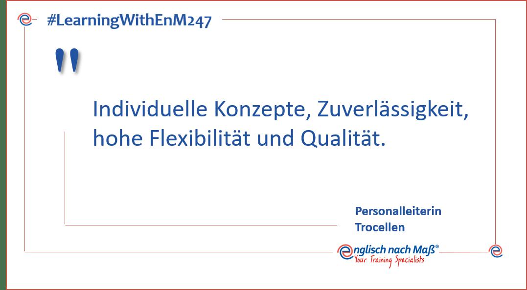 Individuelle Konzepte, Zuverlässigkeit, hohe Flexibilität und Qualität.
