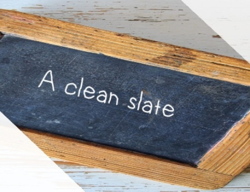 Let's start with a clean slate: New Year's Idioms