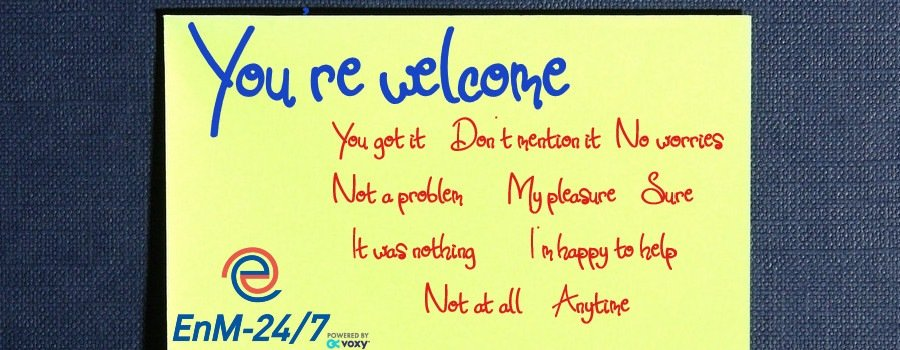 10 Ways to say You're welcome in English