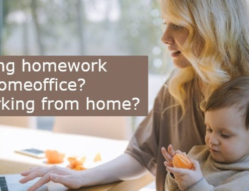 I make homework? I works from home? I work remotely?