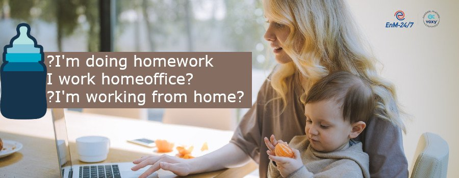 Working from home Homeoffice remote work learn English false friends Falsche Freunde