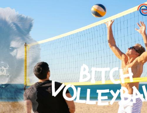 Schimpforte und biestiger Volleyball