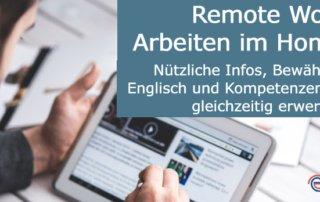 Remote Work Arbeiten im Homeoffice Englisch Tipps
