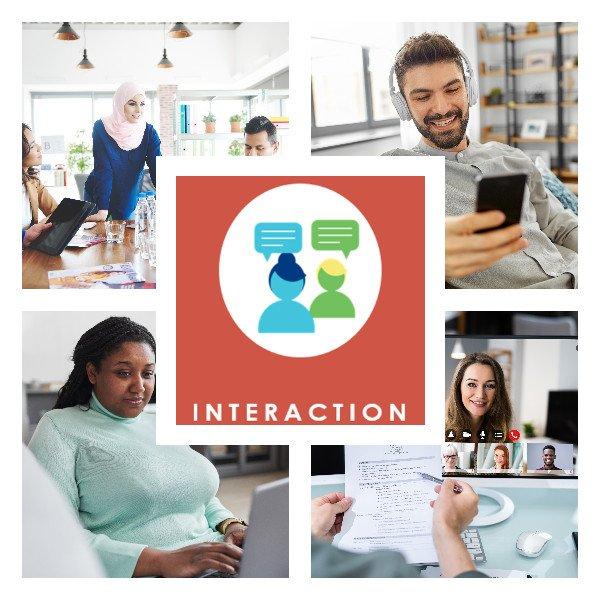 Englisch nach Maß Blended Learning Interaktion