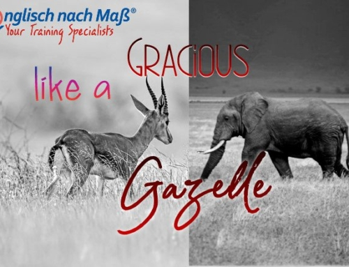 Hüte dich vor Falschen Freunden: Gracious like a gazelle